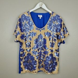 NEIMAN MARCUS FOR TARGET TRACY REESE SEQUIN BLOUSE